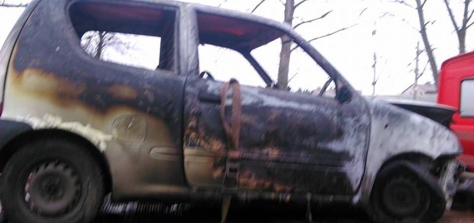 Pożar auta naul.Lipowej weWronkach