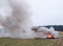 Spalanie odpadów roślinnych