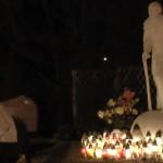 Spotkanie modlitewne przy pomniku Jana Pawła II