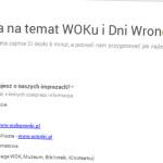 Ankieta natemat WOKu iDni Wronek