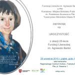 25-lecie Fundacji Literackiej im.Agnieszki Bartol