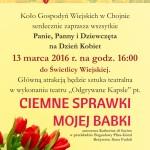 Zaproszenie naDzień Kobiet wChojnie