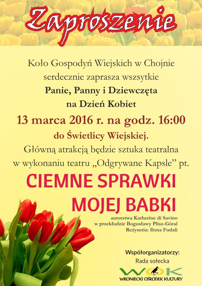 dzień kobiet plakat news