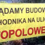 Część mieszkańców ul.Topolowej chce chodnika także przy swojej posesji