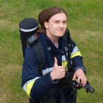 Karol Grajewski – strażak zpasją dziennikarstwa