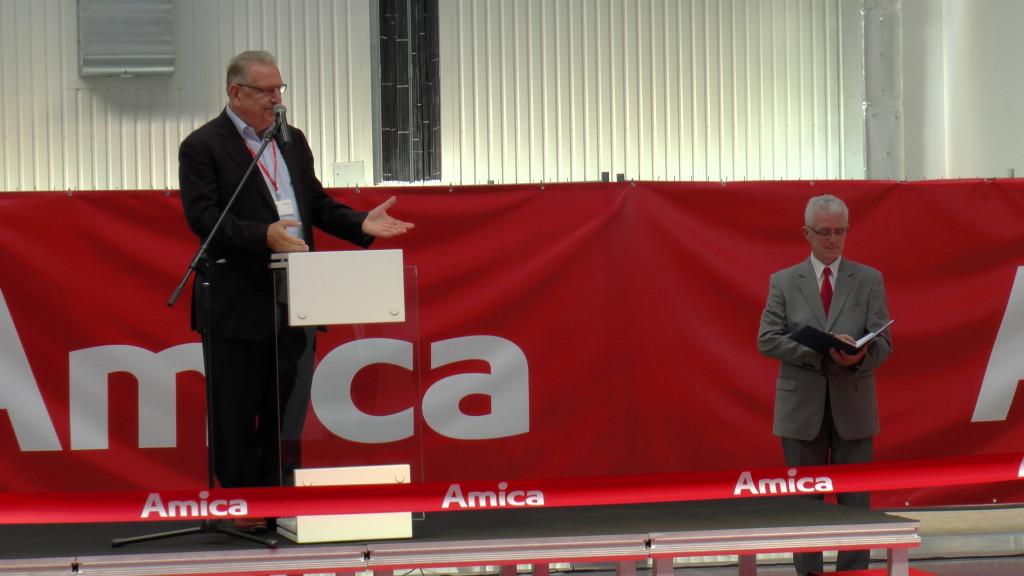 Prezes Jacek Rutkowski wczasie otwarcia