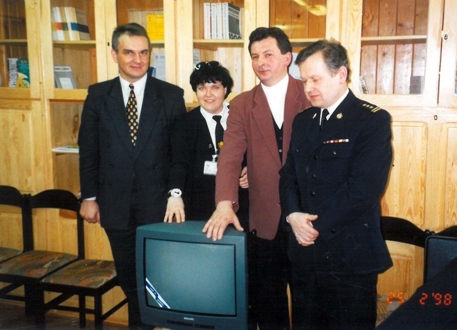 1998 25.02 Warszawa telewizor
