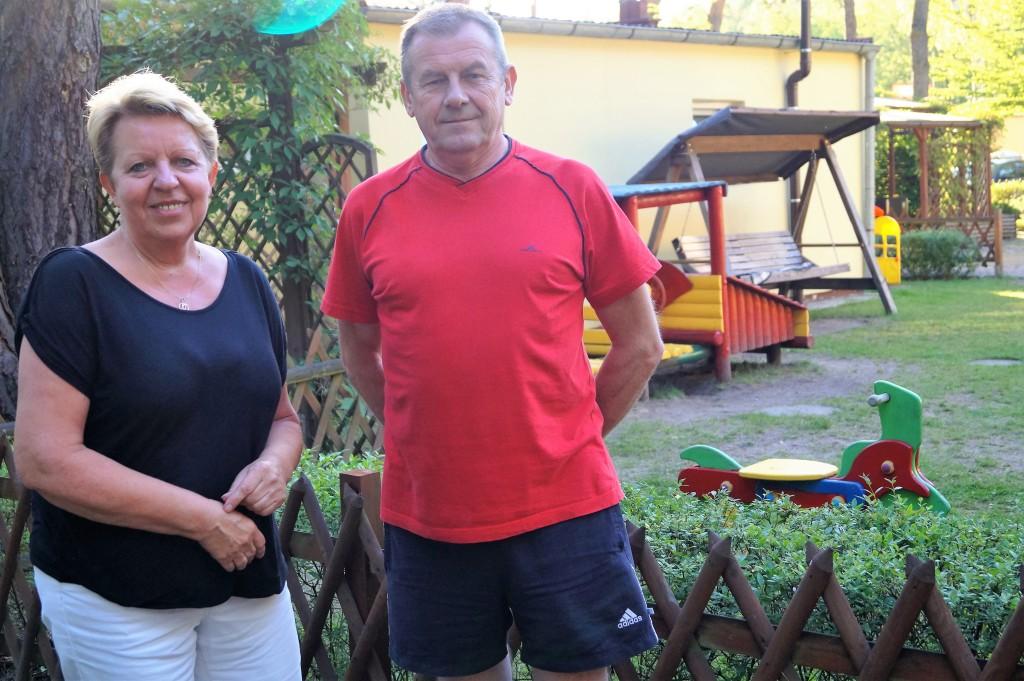 Gospodarze ośrodka Renata iMarek Suliccy dbają oto, bypracownicy Amiki mieli jak najlepsze warunki dowypoczynku