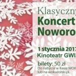 Koncert Noworoczny wNowy Rok wsali kina Gwiazda