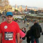 Robert Dopierała zChojna pobiegł wmaratonie wBarcelonie