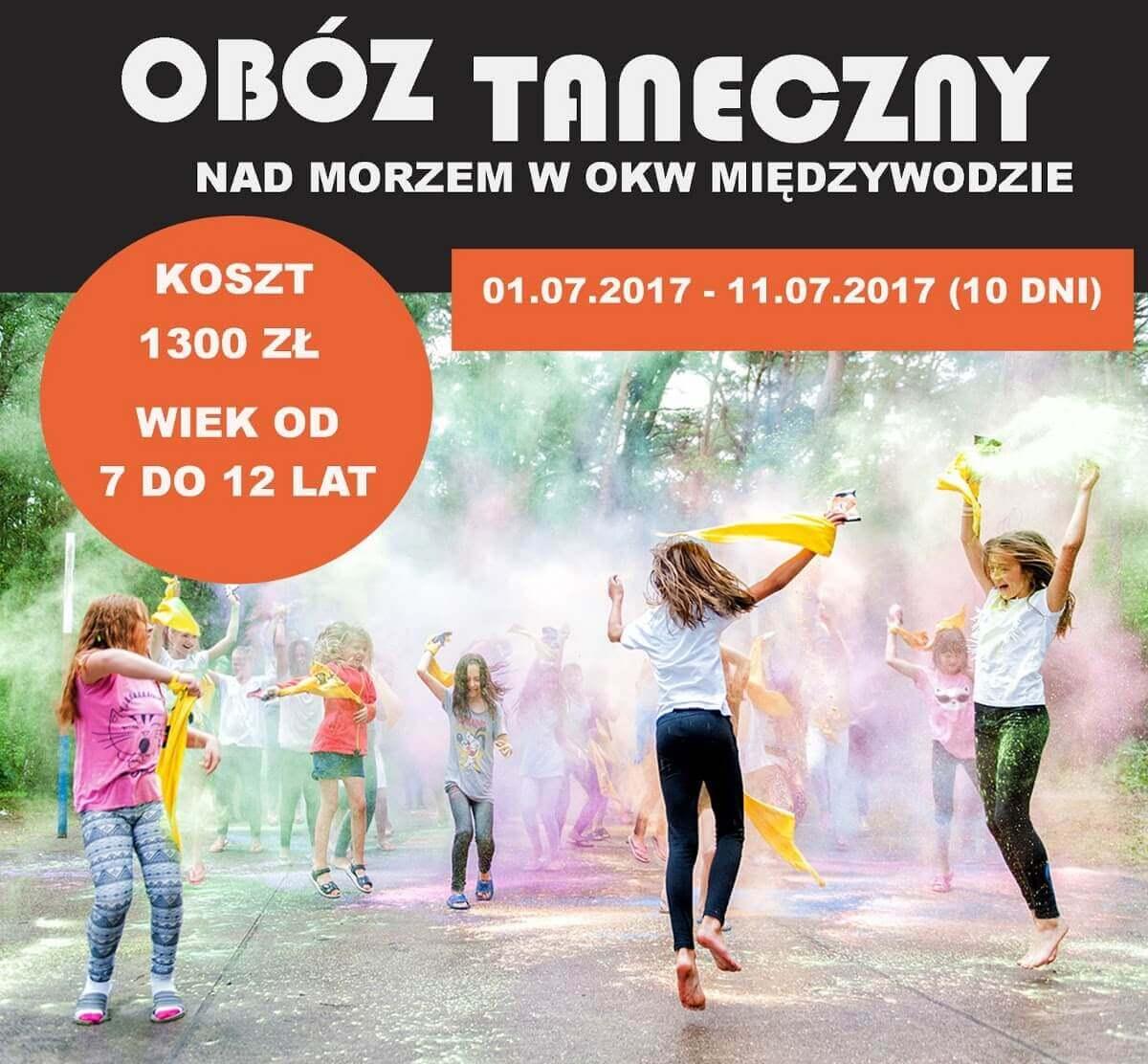 Obóz taneczny wOKW Międzywodzie NadMorzem