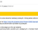 Uwaga nae-maile-pułapki odrzekomego DHL