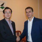 Spotkanie burmistrza znowym prezesem firmy SAMSUNG