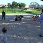 Plaża podkładką beztoalety