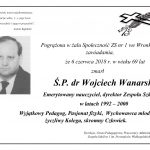 Zmarł doktor Wojciech Wanarski