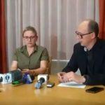 Konferencja prasowa Urzędu Wojewódzkiego wsprawie zamkniętego mostu weWronkach