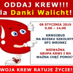 Krwiobus dla Danki Walicht już 8 stycznia wSP-2 weWronkach