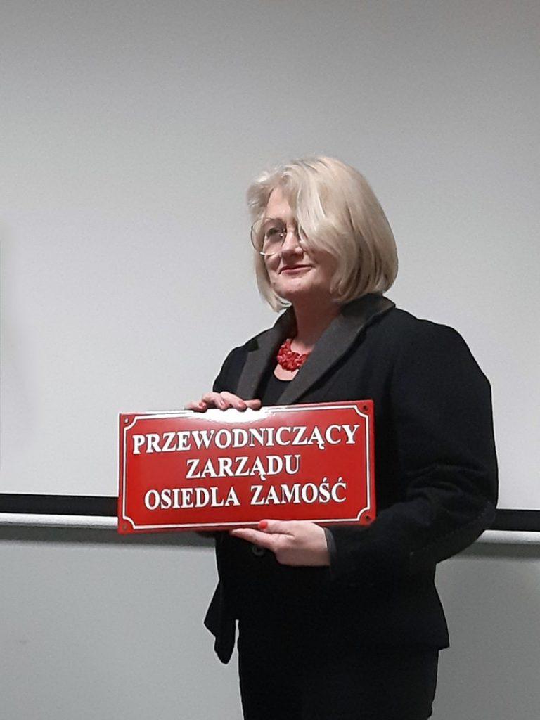 Violetta Kozłowska - przewodnicząca Zarządu Osiedla Zamość