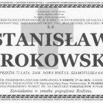 Pogrzeb Stanisława Srokowskiego wsobotę