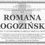 Zmarła Romana Rogozińska