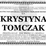 Pogrzeb Krystyny Tomczak wewtorek