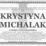 Pogrzeb Krystyny Michalak wponiedziałek