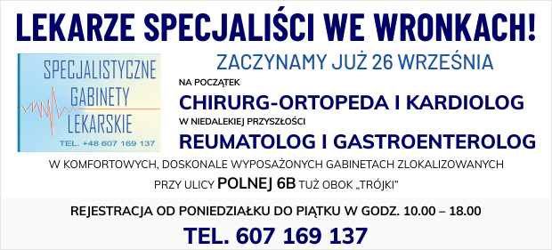 Lekarze Specjaliści we Wronkach