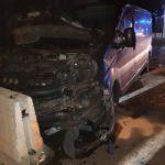 Nocny wypadek nazaporach przy moście