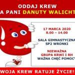 Zbiórka krwi dla Danki Walicht