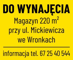 magazyn 220m2 na wynajem wronki mickiewicza