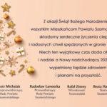 Świąteczno-noworoczne życzenia zPowiatu Szamotulskiego