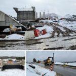 Zimowy krajobraz nabudowie naszej obwodnicy weWronkach