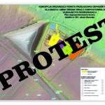 Właściciele działki sąsiadującej zplanowaną wSamołężu kompostownią protestują!