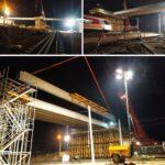 Nocne prace przy budowie obwodnicy