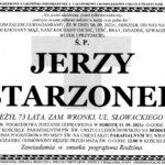 Zmarł Jerzy Starzonek